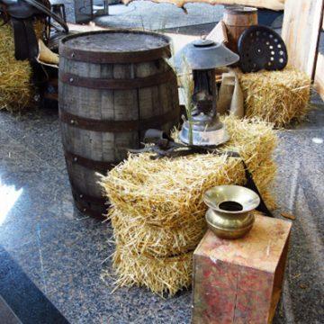 western barrel scene